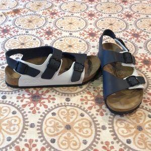 BIRKENSTOCK 2 TONE BLUE 2 strap sandals Ladies-8